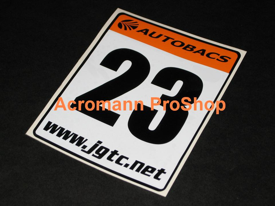 Autobacs Japan JGTC Race Number Plate Decals Stickers(#1) x 2pcs
